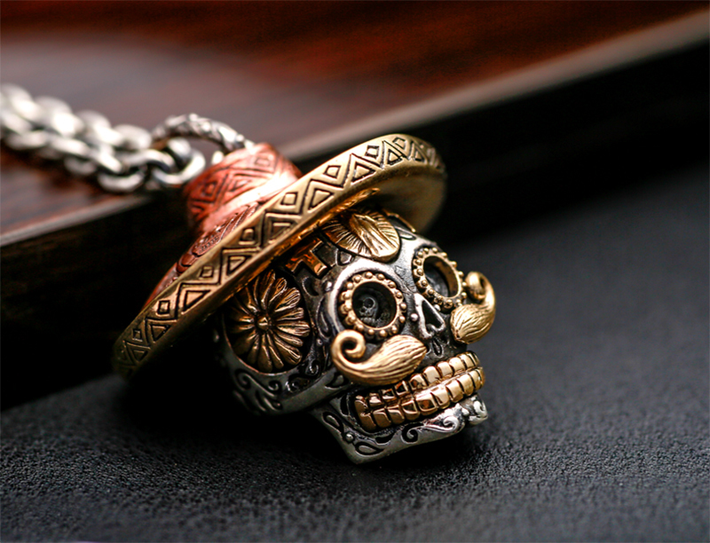 skull male gift send fine sales product sterling fashion pure jewelry euphorium hot promotion pendant friend sale silver necklace