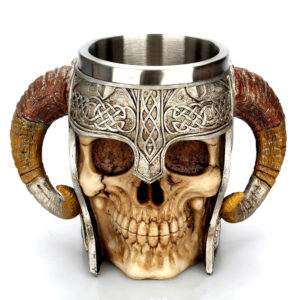 Viking warrior skull cup