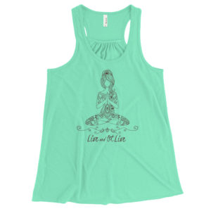 Live and Let Live - flowy racerback tank